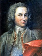 Unverified portrait of Bach, by Johann Ernst Rentsch, 1712