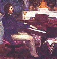 Chopin at the piano