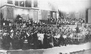 Mahler rehearsing the Eighth Symphony
