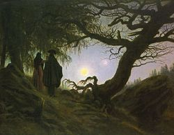 'Man and Woman Gazing at the Moon' (1830/35) by Caspar David Friedrich
