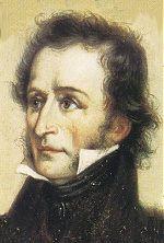 Portrait of Paganini from around 1830