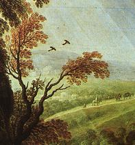 Detail from 'Classical Landscape' by van Ruysdael