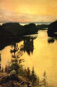 'Kaukola Ridge at Sunset' by Albert Ederfelt