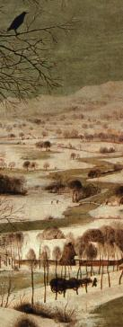 Detail from 'Hunters in the Snow' by Peter Brueghel the Elder